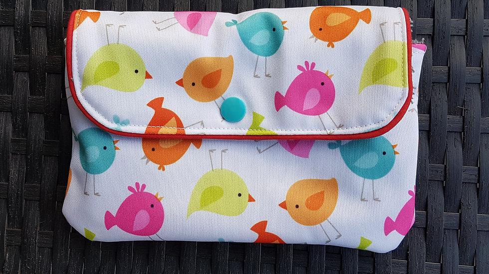 Pochette imperméable oiseaux pour serviette hygiénique
