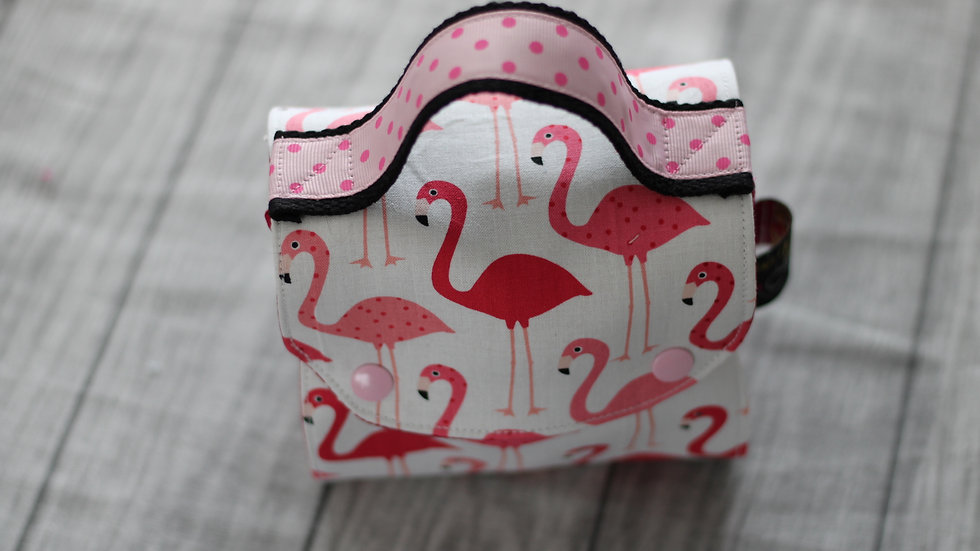 Sac à mug motif flamand rose