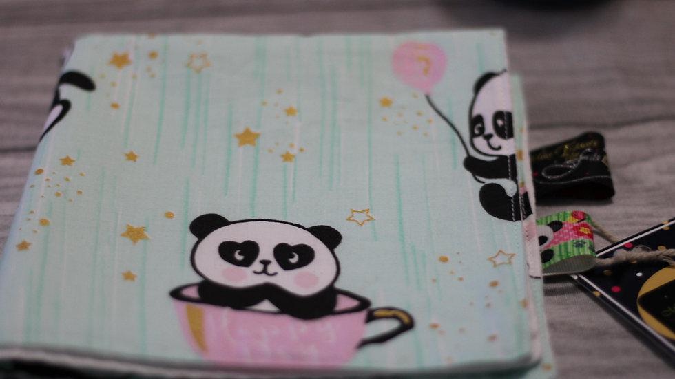 Serviette de cantine carrée motif panda