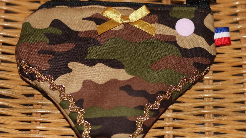 Porte monnaie culotte motif militaire