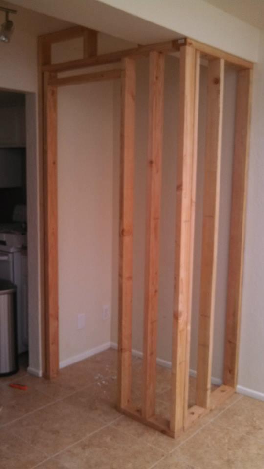 Frame for new pantry