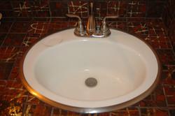 Drop in sinks, faucets
