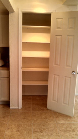 Shelving for Storage in new pantry
