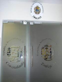 עיצוב דלת זכוכית דקורטיבית