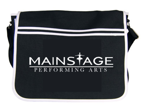 Unisex Black Mainstage Messenger Bag