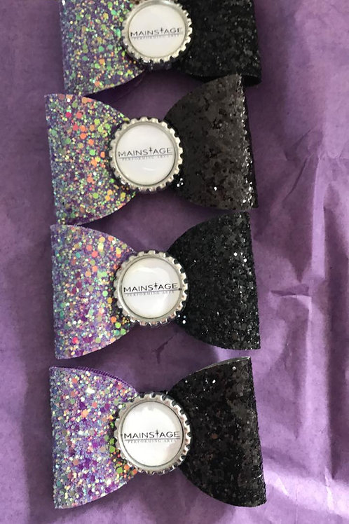 Mainstage Glitter Hair Bow - Large