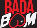 logo fond noir BADABOOM Club libertin a