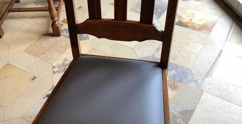 Réfection des assises de chaises