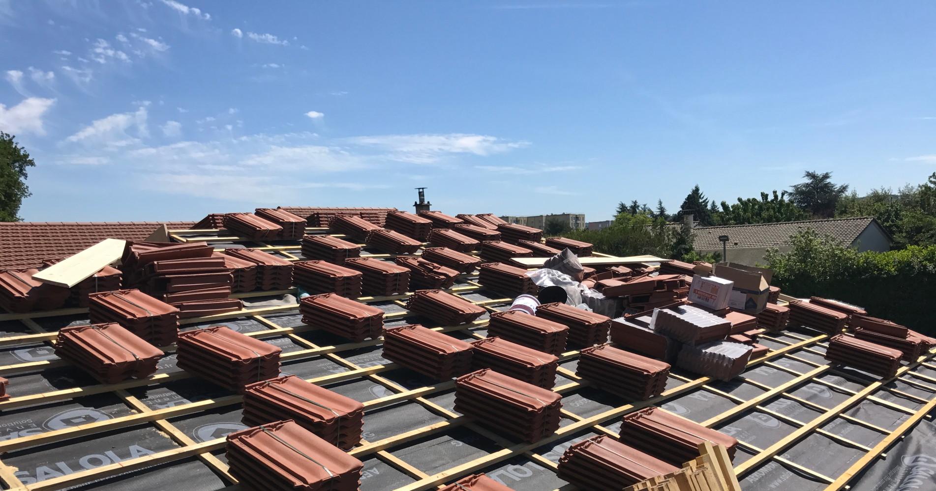 Refection des toits dans le Rhone et l'Isere