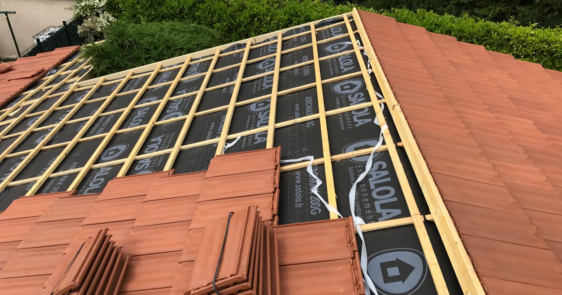 Renovation des toitures dans le Rhone et l'Isere