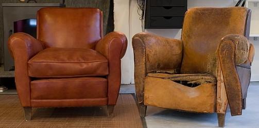 renovation fauteuil club cuir par votre
