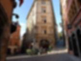 Quartier Saint George du vieux Lyon, place près de notre restaurant lyonnais pour les groupes
