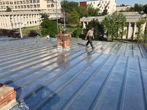 Travaux realisation toiture en zinc pres