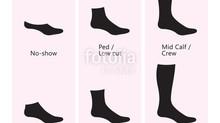 Toutes les hauteurs de chaussettes