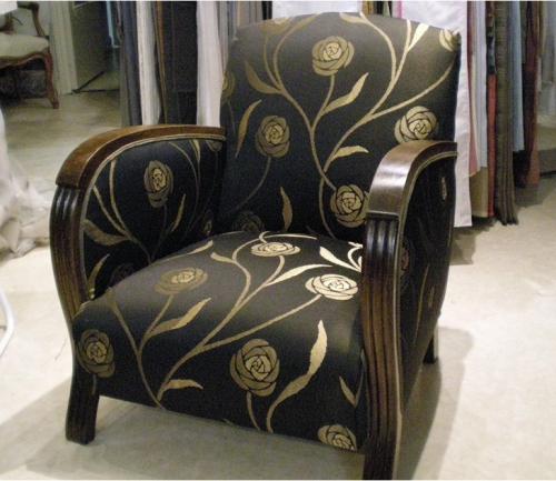 refection fauteuil en tissu par le tapissier