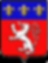 Blason de LYON, capitale de la gastronomie française. Emblème du vieux Lyon, le quartier visité par les touristes et adoré par les lyonnais pour une sortie au restaurant, une visite des monuments historiques (cathédrale Saint-Jean, basilique de Fourvière)