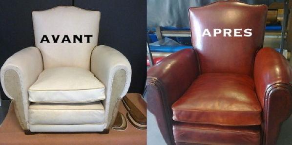 Repigmentation et teinte d'un fauteuil C