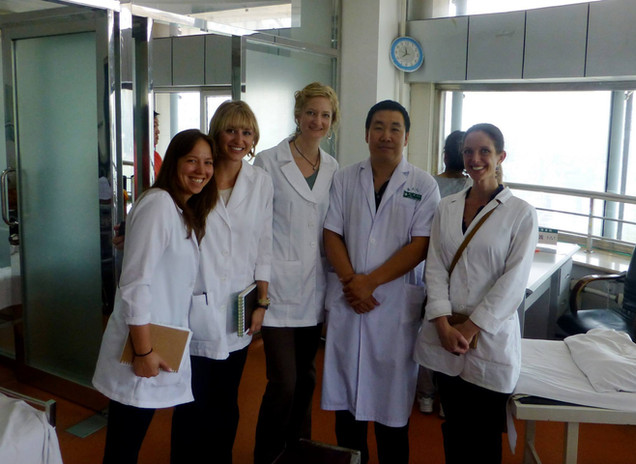 Photo of Acupuncturist studying with Doctors in China