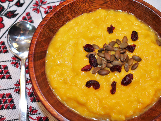 Ukrainian Sweet Pumpkin Porridge with Goat Milk (VIDEO)