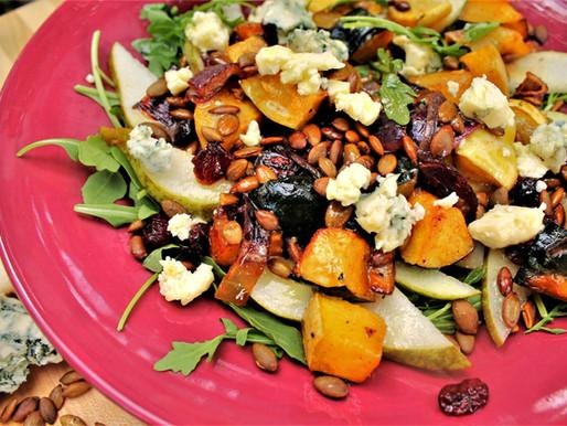 Maple-Roasted Squash Salad with Black Truffle Vinaigrette (VIDEO)