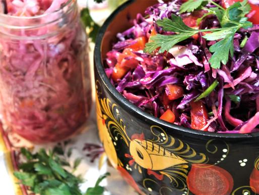 """""""Birthday Party in a Bowl"""" - Sauerkraut Salad (VIDEO)"""