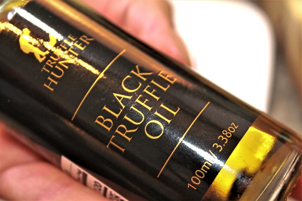 Bottle of Truffle Hunter black truffle oil