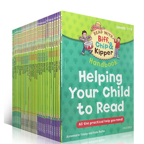 1 Set 33 Books 1-3 Level Oxford Reading , Helping Child to Read Phonics English