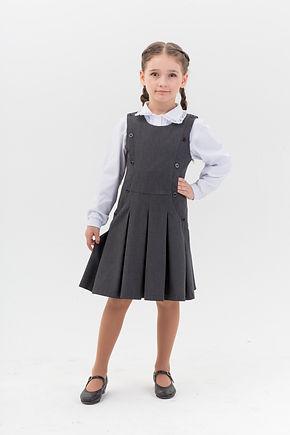 Школьная форма для девочек. Серая коллекция.