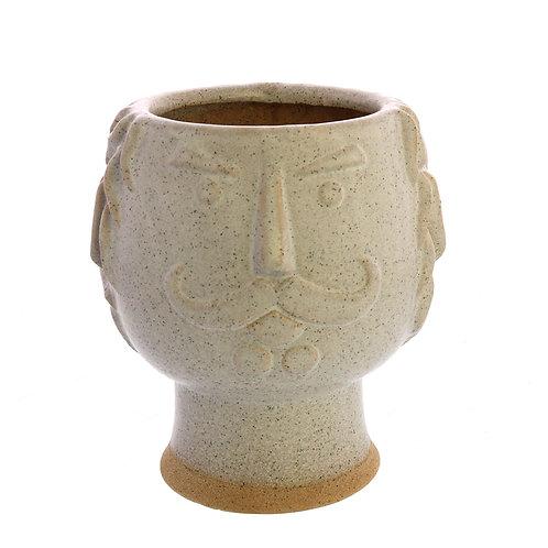 Duke Cachepot - White, Ceramic