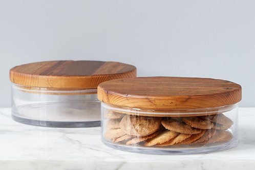 Classic Wood Top Canister, Large