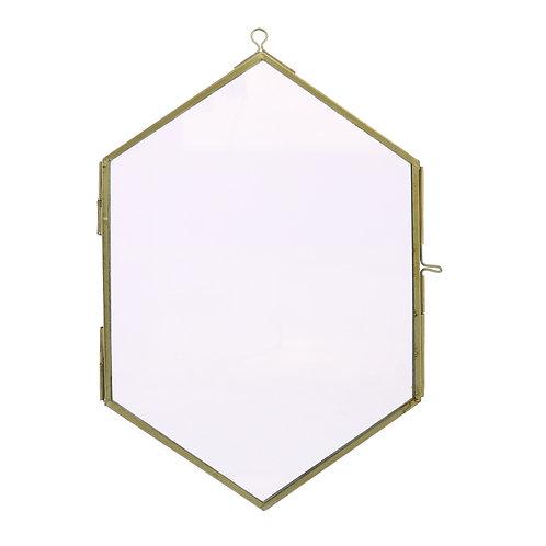 Monroe Geo Wall Frame - Brass (Small)
