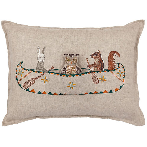 Coral & Tusk Friends Canoe Pocket Pillow
