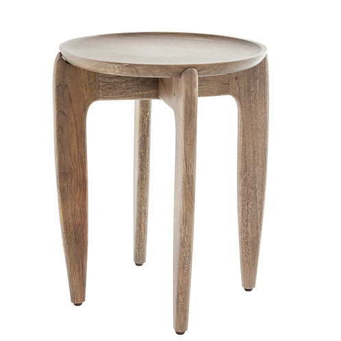 Brown Mango Wood Accent Table