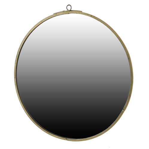 Monroe Round Mirror - Brass (Small)