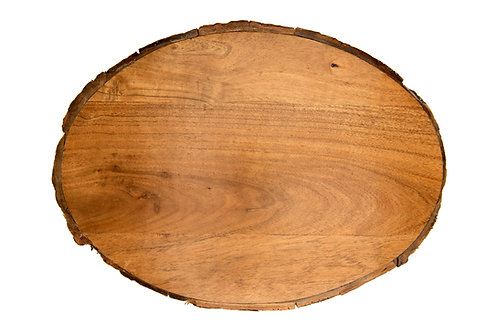 Oval Brown Acacia Wood Cheese/Cutting Board