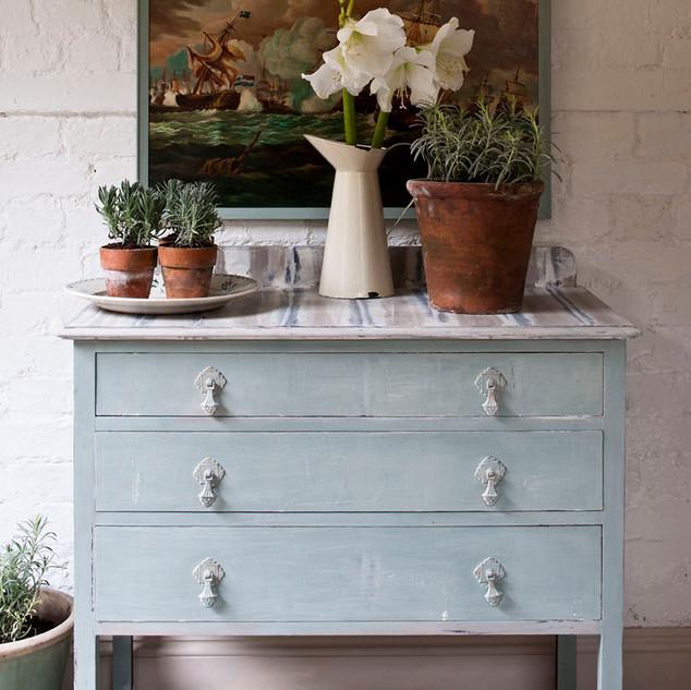 Duck Egg Blue wash cabinet