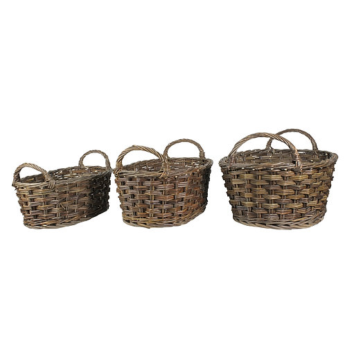 Willow Baskets Oval - Set of 3