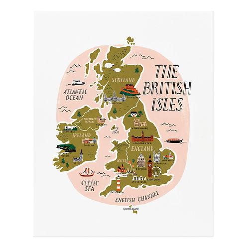 British Isles Art Print