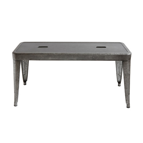 "40.25""W Rectangle Galvanized Metal Bench"