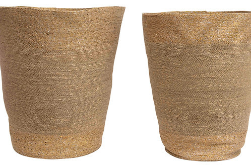 "16"" & 20"" Handwoven Natural Seagrass Baskets (Set of 2 Sizes)"