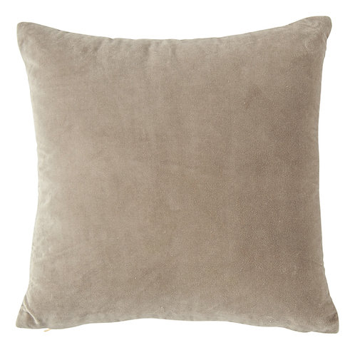 Square Grey Velvet Pillow