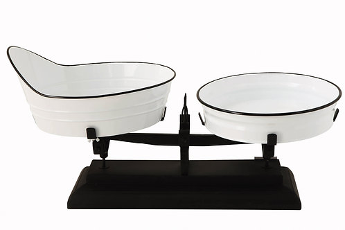 White & Black Decorative Metal Scale