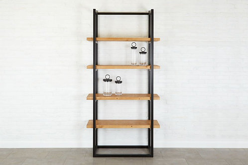 Pantry Shelf Unit Raw Iron with Natural Shelves