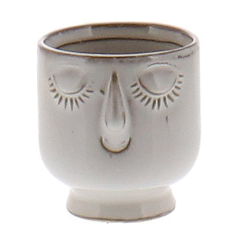 Celia Cachepot - Ceramic, White (Small)
