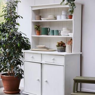 Old White kitchen dresser