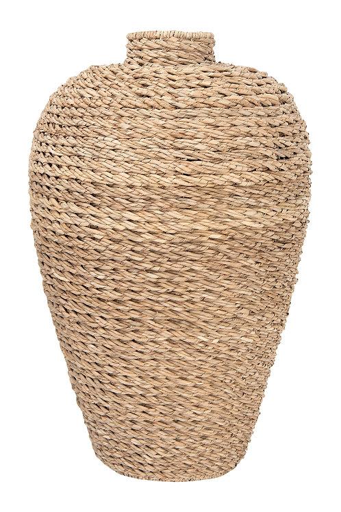 """32""""H Handwoven Seagrass Floor Vase"""