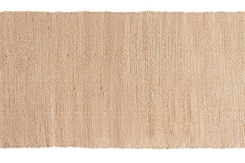 "96"" Blush Handwoven Jute & Chenille Runner Rug with Fringe"