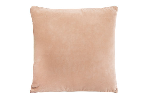 Square Taupe Cotton Velvet Pillow