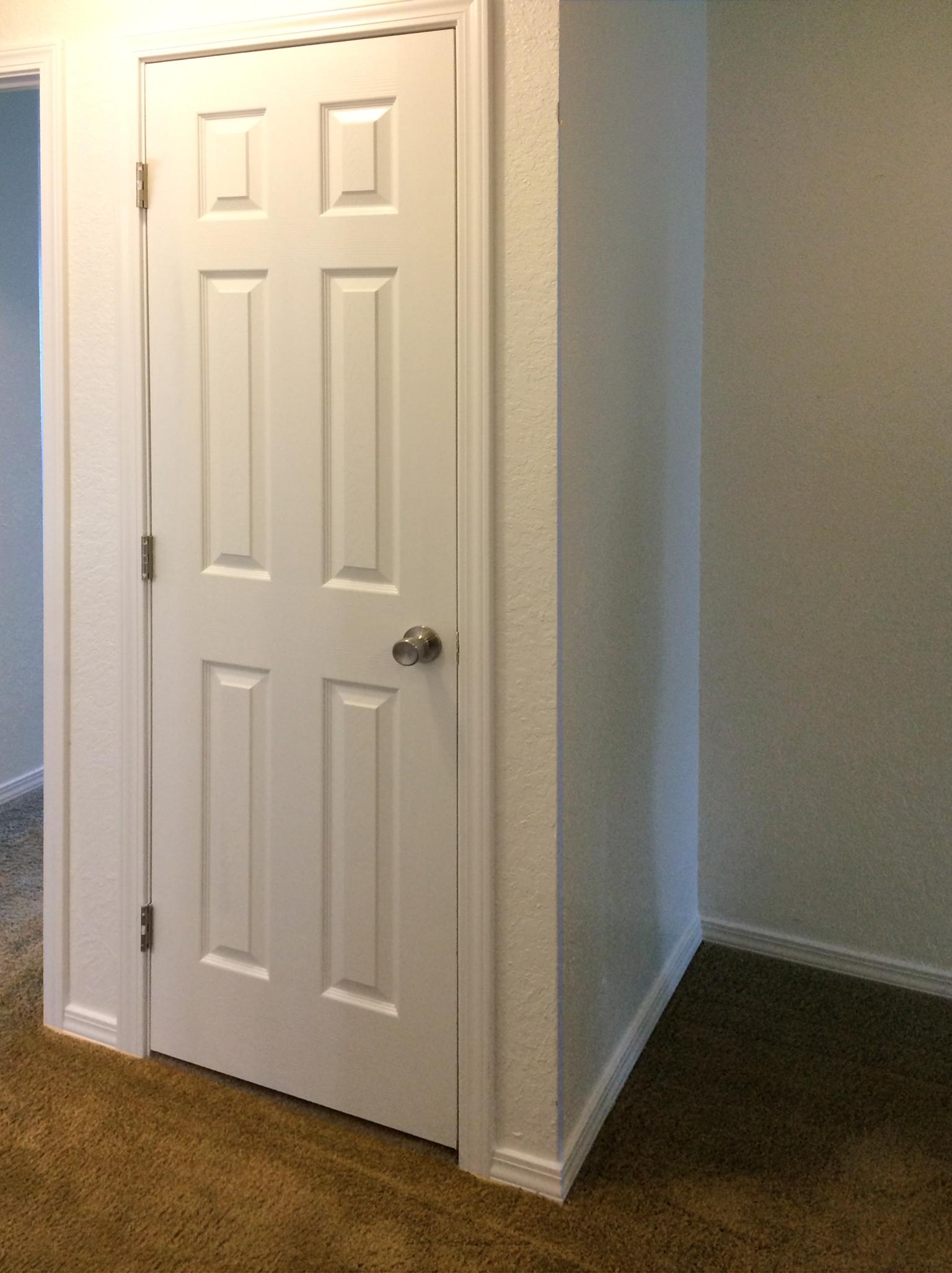 Hall closet for extra storage space.