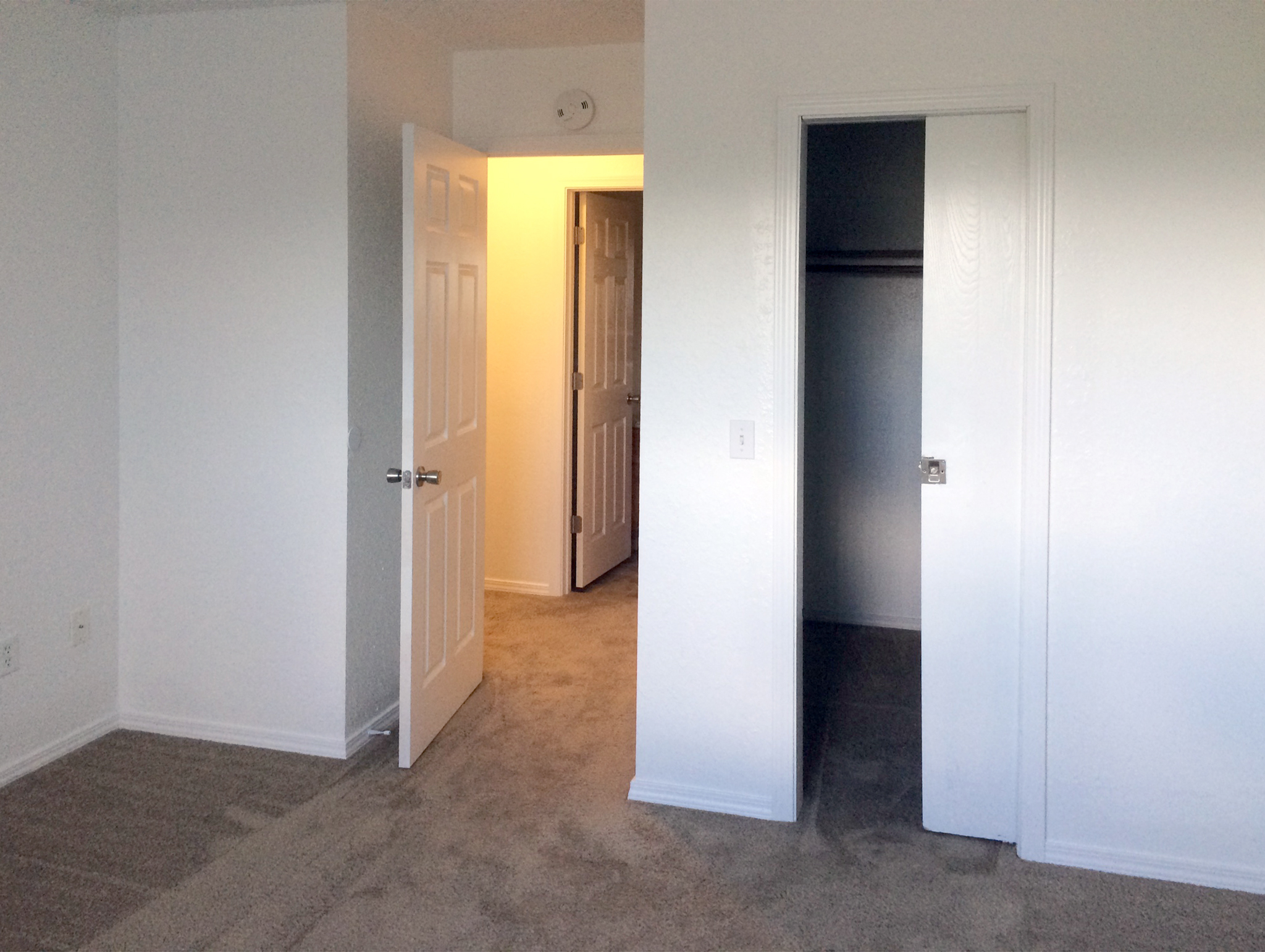 Master bedroom with spacious walk-in closet